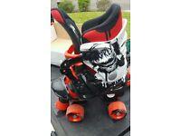 Adjustable quadskates/ roller Skates size 13 - 3