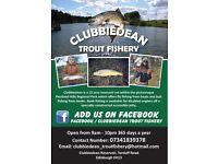 Clubbiedean trout fishery ( fly & bait fishing )