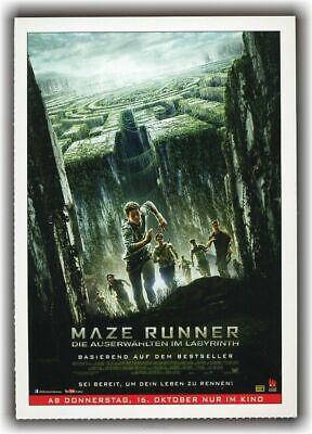 MAZE RUNNER - DIE AUSERWÄHLTEN IM LABYRINTH ♦ 2014 ♦ CINEMA Filmkarte Karte