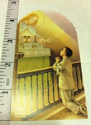 10 Boy First Communion Card For Favors, Blank Back - First Communion For Boy