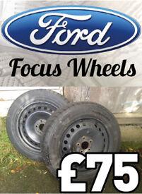 Winter tyres on steel rims 205/55R16 91H in Drymen near Glasgow/Stirling