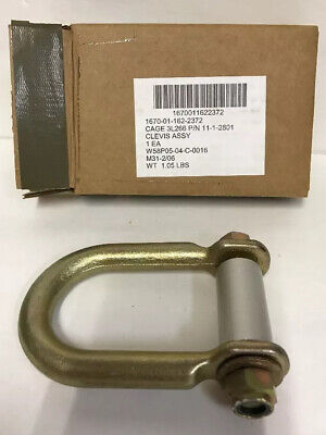New Military Clevis 11-1-2801 Cage 3l266 1670-01-162-2372 Cargo