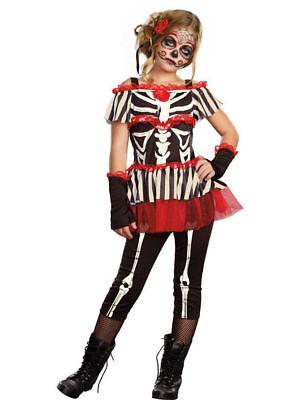 New day of the dead SugarSugar Girls Senorita Bone-ita Costume girl small 6 -