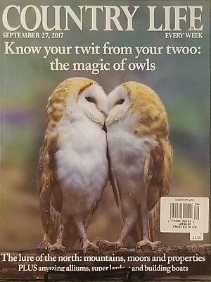 Country Life Uk Sept 2017 Know Your Twit From Twoo Magic Owls Free Shipping Mc