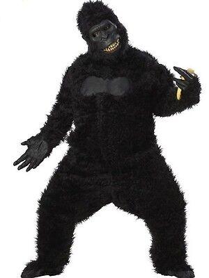 Adult Black Gorilla Goin' Ape King Kong Sasquatch Full Suit Costume Standard](Ape Costume)