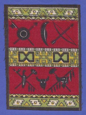 c1910s B14 cigarette tobacco felt Southwest blanket / indian design #31