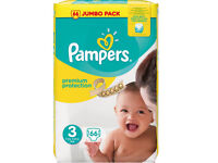 150 pampers new baby premium protection size 3 nappies