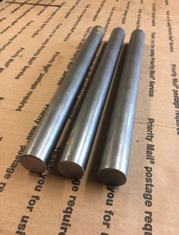 """1"""" Steel Round Stock Lathe Machining Shaft Blacksmith 1045 12"""" Long 3 Pcs Bars"""