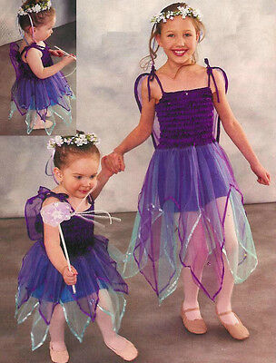 Star Fairy Dance Costume Dress w/ Attached Wings Christmas Clearance Child Large ()