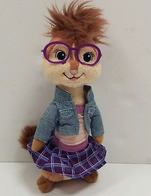 Ty Beanie Baby JEANETTE Chipette Alvin Chipmunks w/glasses & outfit 8