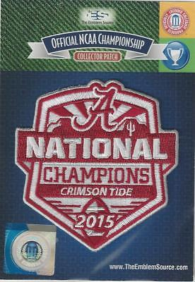 2015 Alabama Ncaa Football National Champions Patch Official   Packaged
