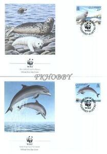 GB Guernsey 1990 Mi FDC 497-00 WWF Animals Pets Seal Dolphin Shark Whale Delfin -  Dabrowa, Polska - GB Guernsey 1990 Mi FDC 497-00 WWF Animals Pets Seal Dolphin Shark Whale Delfin -  Dabrowa, Polska