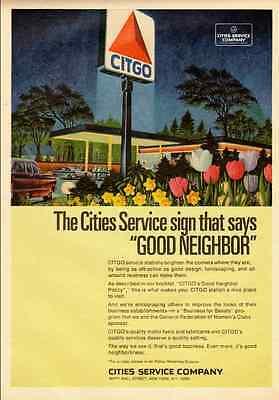1970 vintage ad, CITGO Gas Service Stations -121912