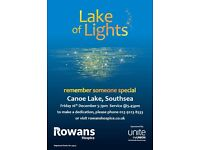 Lake of Lights , an opportunity to light a candle in memory of a loved one