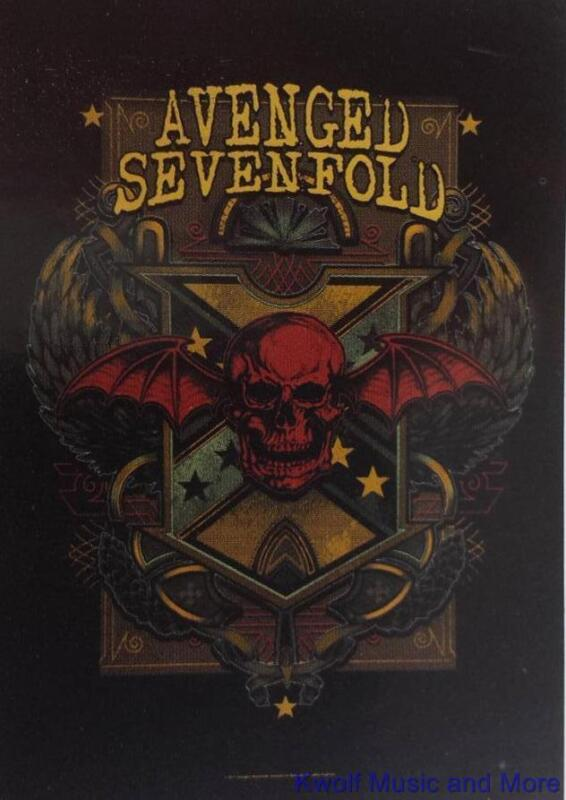 """AVENGED SEVENFOLD Rock flag/ Tapestry/ Fabric Poster  """"Death Crest""""     NEW"""