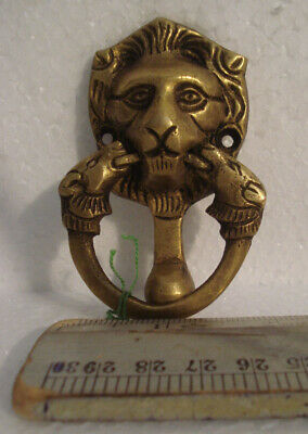 ANTIQUE Style Brass DOOR KNOCKER - LION Style - Fully Brass - RARE(931)