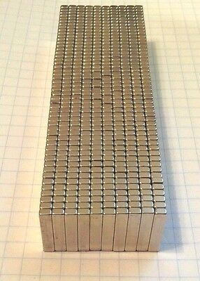 100 Neodymium Magnets. 34 X 316 X 18 Super Strong Rare Earth Magnets. N52