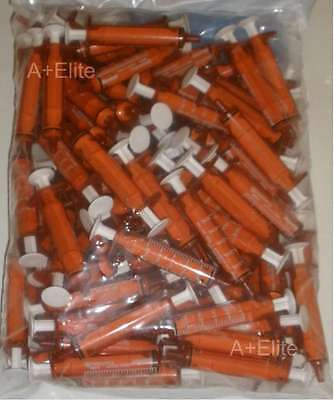 Baxter Baxa Exactamed Amber Oral Medicine Syringe Dispenser 5cc5ml Caps -100-