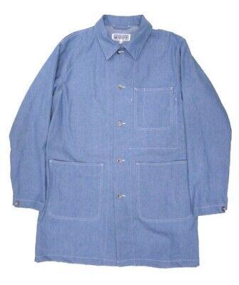 Engineered Garments Workaday Shop Coat Lt. Blue Denim NWT M Nepenthes  Blue Shop Coat
