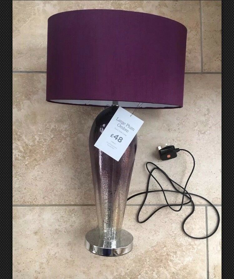 next purple ombre touch table lamp new tags rrp 50 in. Black Bedroom Furniture Sets. Home Design Ideas