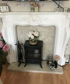 Marble hearth for fireplace
