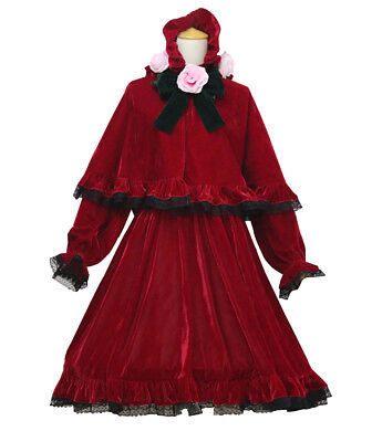 Anime Rozen Maiden Shinku Lolita Dress Cosplay Costume Red Riding - Animated Red Riding Hood