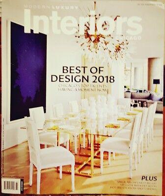 Modern Luxury Interiors Chicago Winter 2018 Best of Design FREE SHIPPING (Best Modern Interior Design)