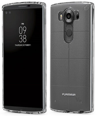 PUREGEAR CLEAR SLIM SHELL CASE HARD TRANSPARENT COVER FOR LG V10 PHONE