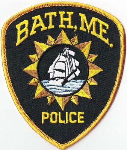 Bath Police Maine ME Police Patch