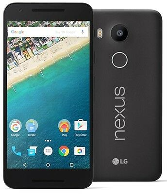 "FACTORY UNLOCKED(GSM) -LG Google Nexus 5X H791 32GB 5.2"" HD - Black Smartphone B"