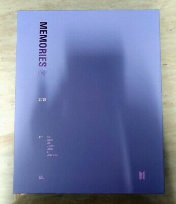 BTS Memories Of 2018 DVD Full Package Opened No Photo card(damage)