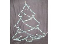 """Christmas Decoration - TREE SILHOUETTE - with coloured fairy lights - 21"""" long, prettier than photo"""