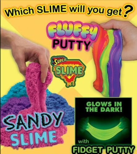 "Glow & Fluffy Putty Sand Slime Mix 250 1"" TOY FILLED VENDING CAPSULES Top Earner"