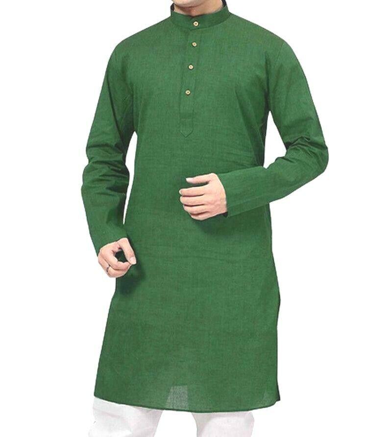 Indian Traditionell Herren Hemd Langärmelig Maßgefertigt Bollywood Freizeithemd