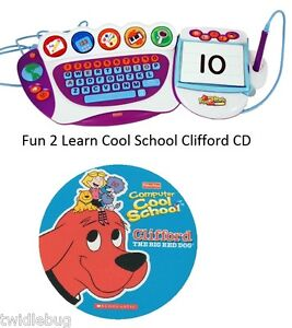 Fisher-Price-Fun-2-Learn-Computer-Cool-School-Software-Clifford-Game-CD