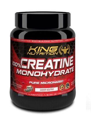 100% Creatine Monohydrate 500gr King Nutrition Creatina Monohidrato
