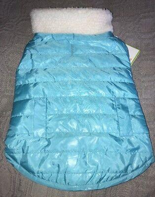 Medium Dog Coat - Medium DOG Jacket / Coat NWT$25 Stylish Reversible Teal & Seafoam Green