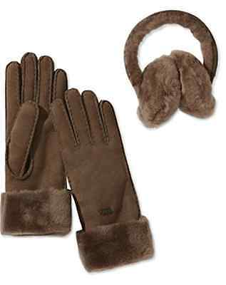 Emu Australia Women's Glove and Earmuff Gift Set into fit XS/S in Chocolate