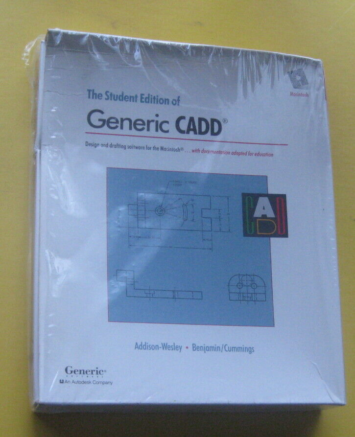Vintage CAD Drafting Software NOS Generic CADD for Macintosh Plus 6.0/7 Systems