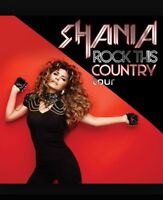 Shania Twain 2 floor tickets June 7, 2015