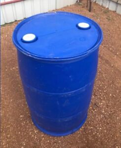 Clean Plastic Drums 44 Gallons