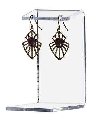 Medium Earring Display Holder Acrylic Jewelry Stand C Shape Qty 6