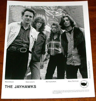 The Jayhawks 8x10 B&W Press Photo Def American 1992