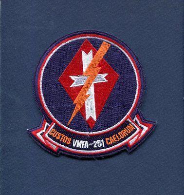 VMFA-251 THUNDERBOLTS USMC MARINE CORPS F-18 HORNET Squadron Patch