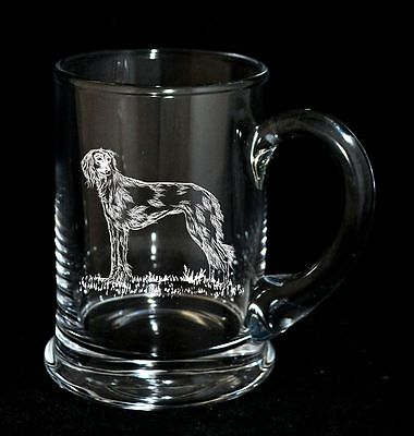 SALUKI - Boxed CRYSTAL PINT TANKARD *DOG GIFT*