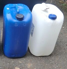 25L and 20L Litre Plastic Water Storage Container Petrol Jerry Can Fuel Jerrycans