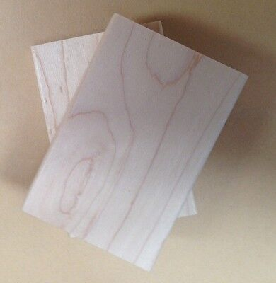 Wood Mounts for Rubber Stamps, Maple Wood Blocks for Rubber Stamps, Mounts 2 X 3