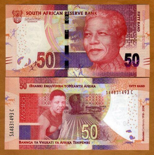 South Africa, 50 Rand, 2018 P-New UNC > Commemorative Mandela Centennial