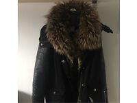 River island fur coat.
