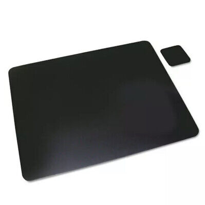 Leather Desk Pad Wcoaster 20 X 36 Black Brand New Very Fast Shipping